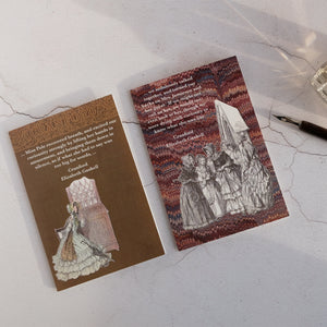 Set of 2 Cranford quotation cards.  Elizabeth Gaskell classic literature cards.  Special offer price.
