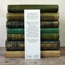 Load image into Gallery viewer, Pride and Prejudice bookmark.  It is a truth universally acknowledged...