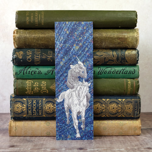 Pride and Prejudice bookmark.  Jane on horseback.