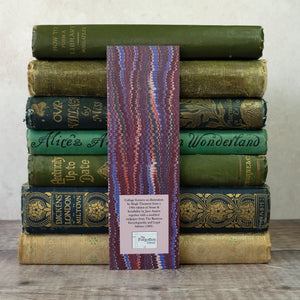 Cracked book spine humour bookmark featuring Jane Austen's character Marianne Dashwood.