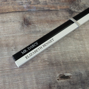 Mr. Darcy and Elizabeth Bennet Pride and Prejudice pencil pair