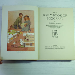 The Jolly Book of Boxcraft by Patten Beard.  1918 children's craft book.