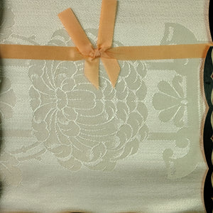 Tablecloth.  Vintage, unopened cream damask made in Ireland.