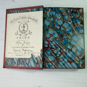 Wordsworth's Poetical Works.  Leather bound school prize edition 1886 (awarded in 1889).
