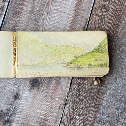 1912 sketchbook with pencil sketches and watercolours of Italy
