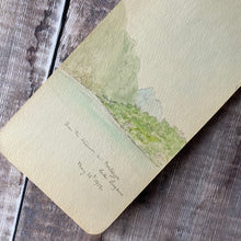 Load image into Gallery viewer, 1912 sketchbook with pencil sketches and watercolours of Italy