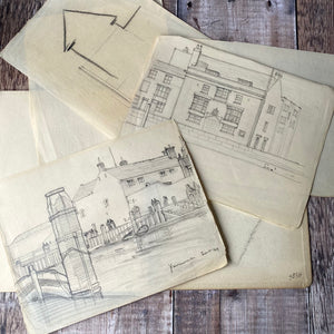 Vintage sketchbook (architect C Stanley Peach).