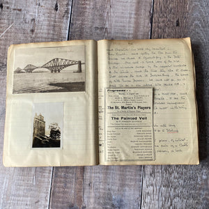 Travel journal 1932. York, Durham, Edinburgh, Linlithgow, Stirling, Glencoe, Glasgow, Liverpool, Chester etc