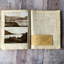 Load image into Gallery viewer, Travel journal 1932. York, Durham, Edinburgh, Linlithgow, Stirling, Glencoe, Glasgow, Liverpool, Chester etc