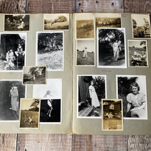 Load image into Gallery viewer, Large scrapbook full of photos relating to holidays Bradgate Park Leicestershire in the 1930s, 40s, 50s.  Pastel sketches etc.