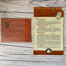 Load image into Gallery viewer, Vintage ephemera selection - 1905 letter, photos, national insurance stamps, doilies, ministry of food...