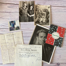 Load image into Gallery viewer, SALE Vintage ephemera selection - Rowntree's recipe book, photographs, Violet Carson letter, 1935 pram receipt