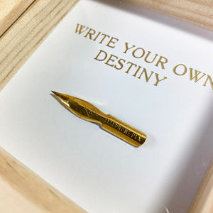 Write Your Own Destiny framed print/vintage nib