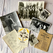 Load image into Gallery viewer, SALE Vintage ephemera selection - Peck's recipes, Savings envelope, photographs