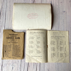SALE Vintage ephemera selection - Peck's recipes, Savings envelope, photographs