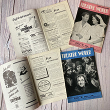 Load image into Gallery viewer, Theatre programmes & Theatre World Magazines 1940s, 1950s, 1960s, Apollo, Strand