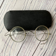 Load image into Gallery viewer, Vintage wire frame spectacles, early 20th century with case (1920s?)