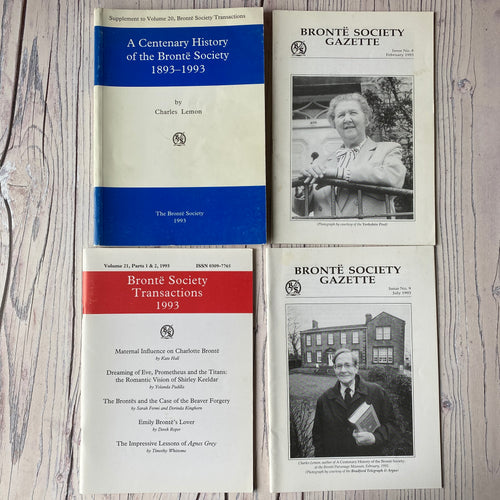 SALE Brontë Society Transactions & Gazette 1993 (4 issues)