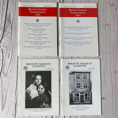 SALE Brontë Society Transactions & Gazette 1994 (4 issues)