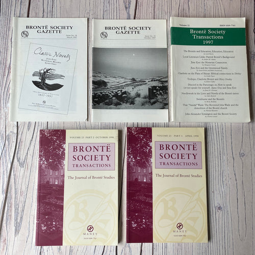 SALE Brontë Society Transactions & Gazette 1997 & 1998 (5 issues)