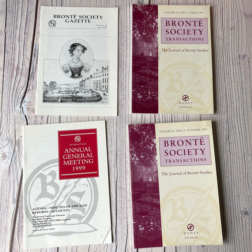SALE Brontë Society Transactions & Gazette 1999 (3 issues + AGM booklet)