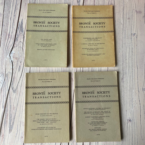SALE Brontë Society Transactions 1971, 1972, 1973, 1974 (4 issues)