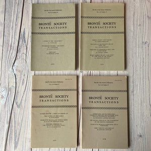 SALE Brontë Society Transactions 1975, 1976, 1977, 1978 (4 issues)
