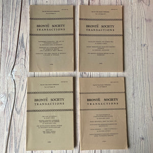 Brontë Society Transactions 1980, 1981, 1982, 1983 (4 issues)