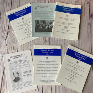 SALE Brontë Society Transactions & Gazette 1990 & 1991 (6 issues)