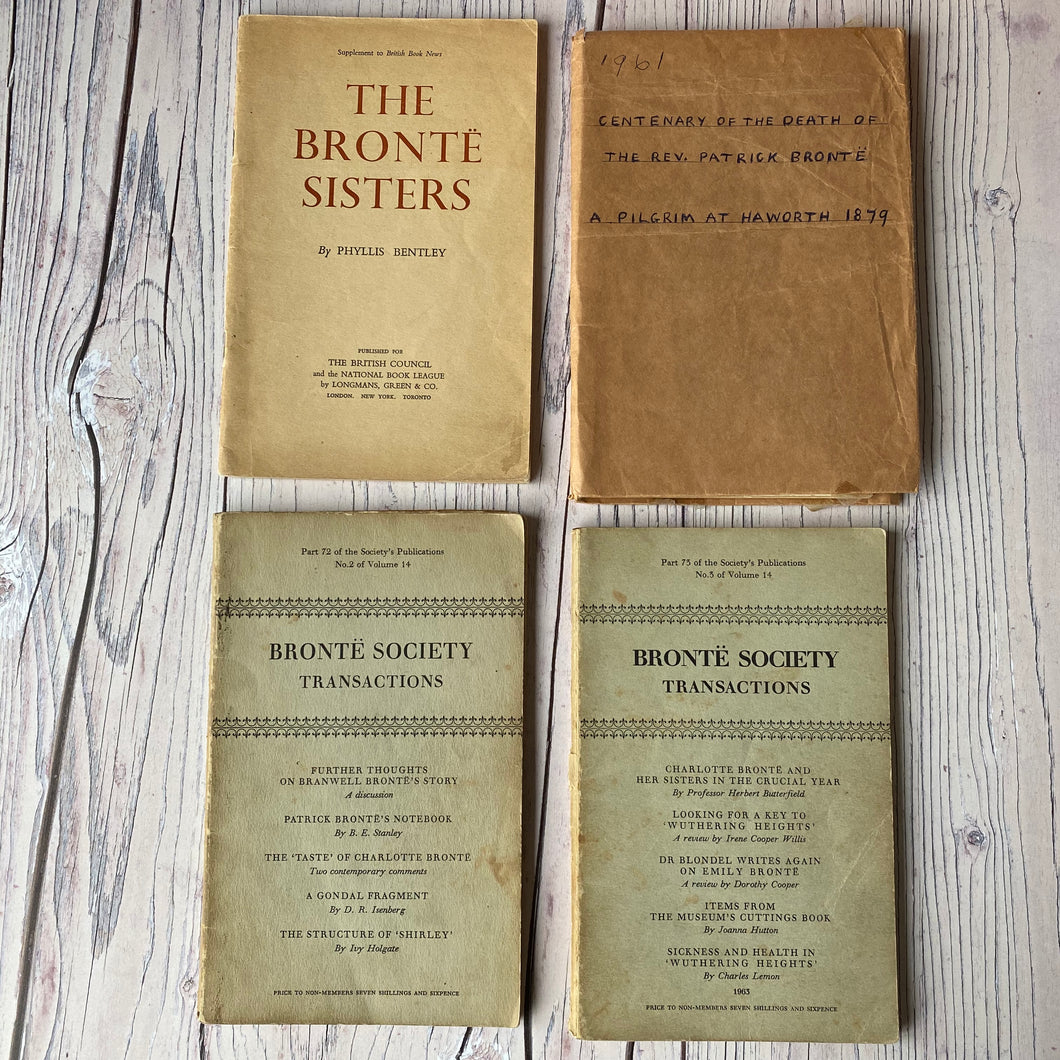 Brontë Society Transactions 1963, 1962, 1961 (3 issues) and British Book News supplement by Phyllis Bentley