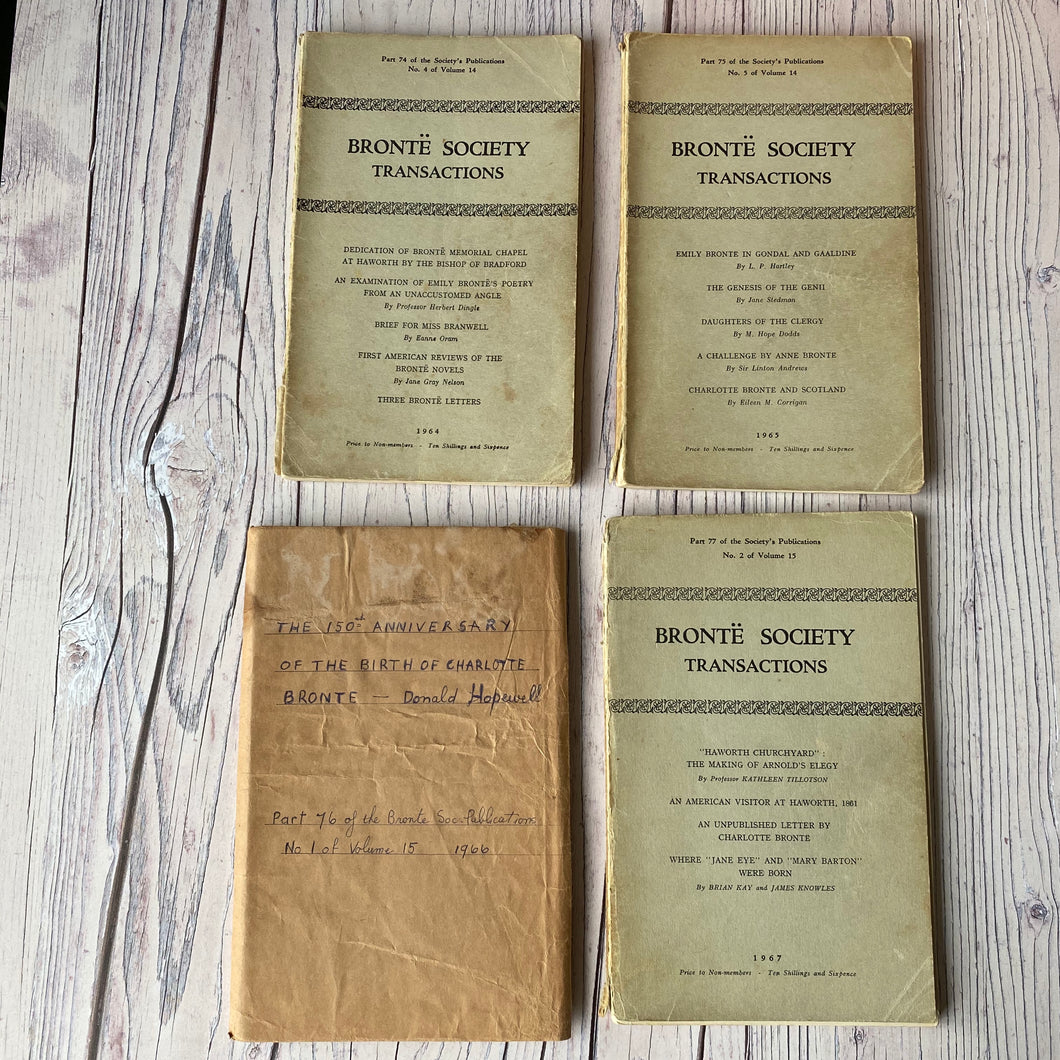 SALE Brontë Society Transactions 1964, 1965, 1966, 1967 (4 issues)