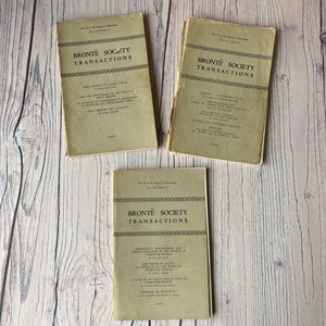 Brontë Society Transactions 1970, 1968, 1969 (3 issues)
