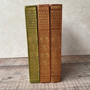 Everyman's Library book trio Ben Jonson, Samuel Taylor Coleridge, John Brown