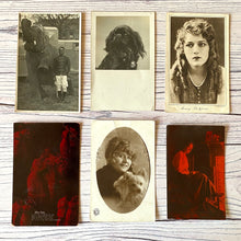 Load image into Gallery viewer, Postcards (vintage unused x 7) Mary Pickford, Valentine, portraits, dog, elephant, (early 20th century)