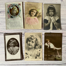 Load image into Gallery viewer, SALE Postcards (vintage used x 6) Edwardian children (early 20th century)