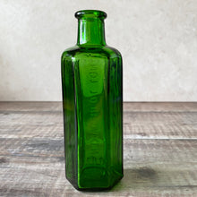 Load image into Gallery viewer, Green glass apothecary bottle NOT TO BE TAKEN