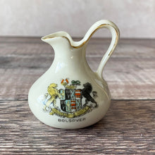 Load image into Gallery viewer, Small crested china jug.  Bolsover (Derbyshire). Marked F G Kerry.