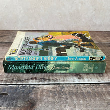 Load image into Gallery viewer, Jane Austen paperback novels.  Northanger Abbey (Pan) and Mansfield Park (tv tie-in).