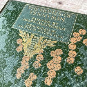 The Homes of Tennyson 1905 AC Black published hardback with decorative binding.