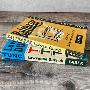 Pair of vintage Lawrence Durrell Faber paperback editions.