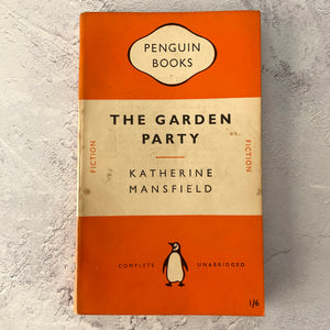 The Garden Party by Katherine Mansfield.  Penguin Books paperback 799.  1951.