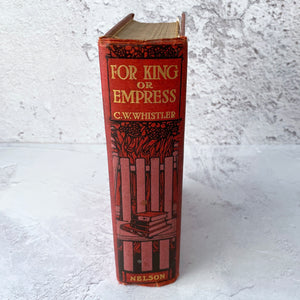 For King or Empress decorative bound book with readers around a tree cover design.