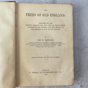 The Trees of Old England (1870) with Queen Victoria 1874 science prize certificate.