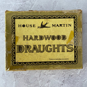 Hardwood Draughts by House Martin in a box (one damaged).