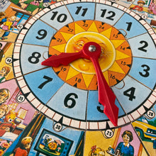 Load image into Gallery viewer, Vintage jigsaw puzzle time teacher clock by Victory (plywood) 3-5 year old