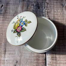Load image into Gallery viewer, Royal Worcester fine bone china trinket box with floral lid.