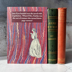 A5 Jane Eyre book lender humour print.