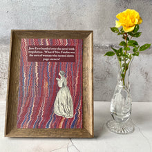 Load image into Gallery viewer, A5 Jane Eyre book lender humour print.
