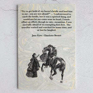Set of 3 Jane Eyre quotation cards.  Charlotte Brontë classic literature cards.