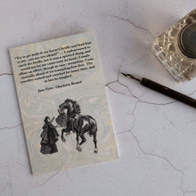 Load image into Gallery viewer, Set of 3 Jane Eyre quotation cards.  Charlotte Brontë classic literature cards.
